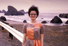 Southern Oregon Coast with Joy - 1964 by Mike Leavenworth, via Flickr