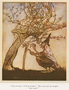 "Arthur Rackham-English fairy tales-""The two sisters"""