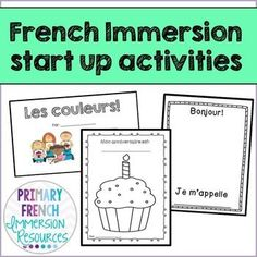 French Immersion start up activities Can be used for grade 1 (introduction) or… Spanish Teaching Resources, School Resources, Spanish Activities, French Resources, Work Activities, Classroom Expectations Poster, French Language Learning, Spanish Language, Dual Language