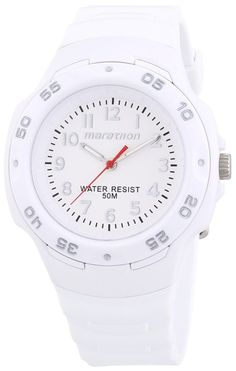Women's watches:  White Watches for women Timex Ironman Marathon White Dial White Resin Ladies Watch T5K750.