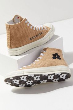 Check out Converse X Golf Le Fleur Burlap Chuck Taylor Sneaker from Urban Outfitters SIZE 8 W Chuck Taylors, Urban Outfitters, Swag Shoes, Aesthetic Shoes, Hype Shoes, Fresh Shoes, Golf Fashion, Ladies Fashion, Golf Outfit