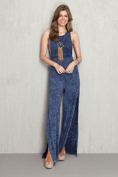 Macacão malha jeans | Dress to