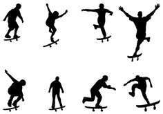 Silhouette Vector Graphics Pictures Clipart Images and Skateboard Party, Skateboard Design, Silhouette Cameo, Silhouette Vector, Satanic Art, Skate Party, Photoshop, Creations, Image Search