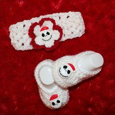 Jack Skellington Baby - Nightmare Before Christmas Set - Booties - Headband - Newborn Photo Prop - Christmas - Baby Girl on Etsy, $23.99