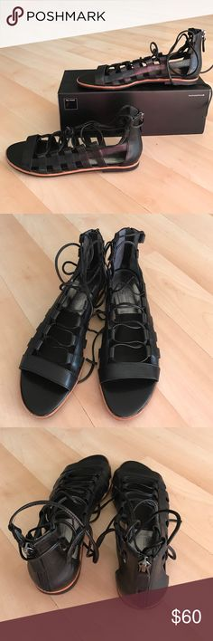 Brand new Franco Sarto black leather sandals Brand new Franco Sarto black leather sandals. Size 8M Franco Sarto Shoes Sandals
