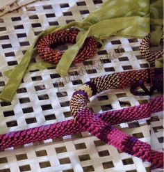 Tunisian crochet cords