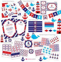 Invitación náutica del cumpleaños invitación por DellaGlobal