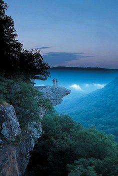 God really provided an amazing view!   ``Whitaker Point, Arkanas