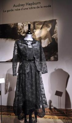 """Hubert de Givenchy-designed black Chantilly lace cocktail dress worn by Audrey Hepburn in """"How to Steal a Million"""""""