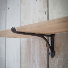 oak shelf with iron bracket graham and green