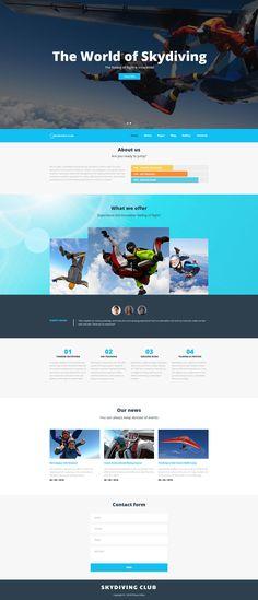 Skydiving Responsive Joomla Template - https://www.templatemonster.com/joomla-templates/skydiving-responsive-joomla-template-61414.html