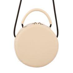 df724dbcedc4 Comfortable Fashion Plain Round Shoulder Bag Lady Split Leather Circular  Cross body Bag Teenage Girls Portable Messenger Bag-in Shoulder Bags from  Luggage ...