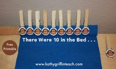 10 in the Bed Math and Literacy Activities - to teach counting backwards from 10.