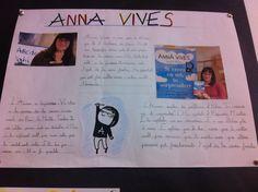 L'Alba, una alumna de 4t de Primària' fa un treball sobre l'Anna