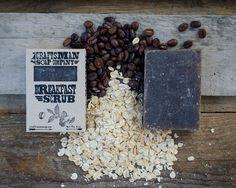 Breakfast Scrub. Coffee & Oatmeal Bar Soap. by CraftsmanSoapCo