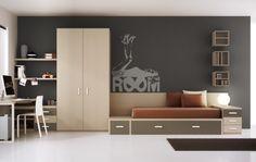 Un dormitorio diferente, exclusivo, de líneas modernas, pensado y diseñado para los que tienen claros sus gustos.   #interiorismo #valencia #interioristas #diseño #design #livingroom #dormitorios #muebles #mobiliario #bedroom #inspiracion #inspiration #interiordesign #jovenes #juvenil #young #youth