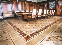wood floors unlimited,inc. custom work - custom borders and inlays
