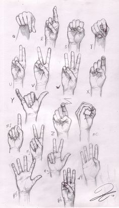 Sketches of Hands | Hand Sketches 02 - Ricard Climent