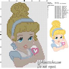 Baby Cenerentola schema Disney gratis a punto croce 13 colori - Schemi punto croce gratis di Wally Cinderella Crafts, Cinderella Disney, Walt Disney, Disney Stitch, Disney Cross Stitch Patterns, Cross Stitch Designs, Cross Stitch Baby, Cross Stitch Charts, Cross Stitching