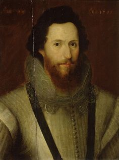 Robert Devereux, son of Lettice Knollys and Walter Devereux, 1st Earl of Essex, step-son of Robert Dudley, Earl of Leicester. Though a military hero, and favorite of  Elizabeth I, he failed in his campaign against Irish rebels during what is known as the Nine Years' War in 1599. Robert mounted a coup d'état against the queen.  Found guilty of treason and, on 25 February 1601, was beheaded on Tower Green, the last person to be beheaded in the Tower of London.