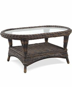 Windemere Wicker Patio Furniture, Outdoor Coffee Table - Macy's - Indoor too Coffee Table Furniture, Wicker Patio Furniture, Shabby Chic Coffee Table, Outdoor Coffee Tables, Gas Fires, Beautiful Living Rooms, Ottoman, Indoor, Outdoor Decor