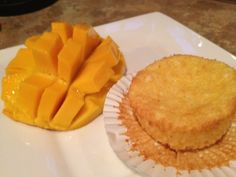Mango Cupcakes - 54 calories, 12.6g carbs, and 0.0g fat!