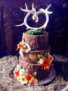 Deer Themed Wedding Cake Topper