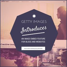 Getty Images introduces an embed feature for blogs and websites and three reasons you may not want to do so on your blog