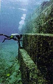 The Yonaguni Monument is a massive underwater rock formation off the coast of Yonaguni, Japan. There is debate about whether the site is a) completely natural, b) a natural site that has been modified, or c) a manmade artifact.