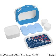 """Red, White and Blue """"Proud To Be Southern"""" Yubo Lunchbox"""