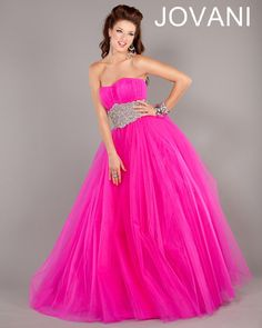 #Jovani #Ballgown style 7474 #Dress  #Fashion #Quinceanera #pink #fuchsia #pretty #gown