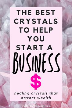 Are you thinking of starting a business? These healing stones will help put you on the right path to success and attract wealth and money in the process. #healingstones #healingcrystals #spirituality #crystals Best Healing Crystals, Chakra Crystals, Crystals And Gemstones, Healing Stones, Crystal Healing, How To Unblock Chakras, Crystals For Wealth, Intuitive Empath, Finance Books