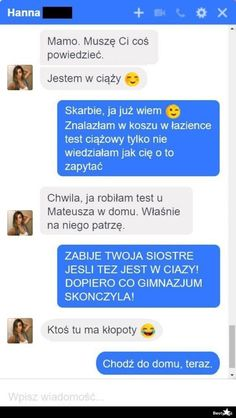 ZAKOŃCZONE Druga część memów. Serdecznie zapraszam i dziękuję za … #losowo # Losowo # amreading # books # wattpad Funny Chat, Funny Sms, Funny Text Messages, Wtf Funny, Funny Texts, Hilarious, Polish Memes, Funny Conversations, Happy Photos