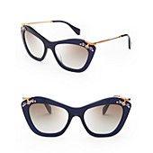 Miu Miu Geometric Cat Eye Sunglasses