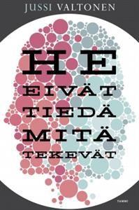 http://www.adlibris.com/fi/product.aspx?isbn=9513174298&gclid=CIKhl_ayysICFcLTcgodcrwADg | Nimeke: He eivät tiedä mitä tekevät - Tekijä: Jussi Valtonen - ISBN: 9513174298 - Hinta: 23,90 € Tämä on kohta hyppysissäni! Kiitetty teos Finlandia-voittajalta.