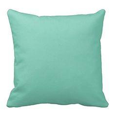 Farmhouse Living Room - Mint Green Music Throw Pillow Case