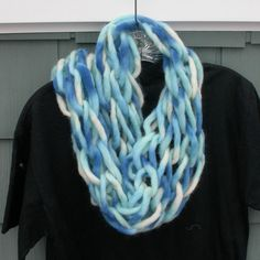 Hey, I found this really awesome Etsy listing at https://www.etsy.com/il-en/listing/215081869/arm-knit-scarf-in-a-blue-and-white