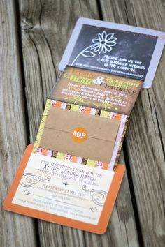 Project Denneler: Rustic Country Wedding Invite