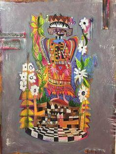 """Saatchi Art Artist Karin Mervis; Painting, """"AfricanQueen"""" #art"""