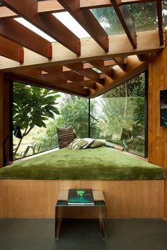 decor, interior, view, window, wood, green,