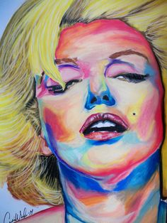 pastels portrait of Marilyn Monroe original artwork available for personalized commissions