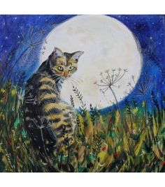 The Cat and the Moon brings you collections of fine art art prints and textiles from West Cork Artist Annabel Langrish. West Cork, Under The Moon, Favorite Subject, Cat 2, Source Of Inspiration, Original Paintings, Wildlife, Birds, Fine Art