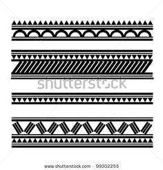stock vector : Maori / Polynesian Style bracelet tattoo - border for wrist tattoo