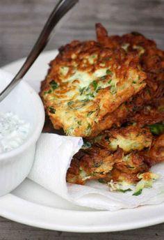 Zucchini Fritters With Dill Tzatziki #WOWfoodanddrink