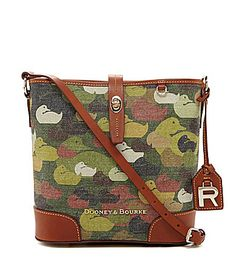Dooney and Bourke Robertson Collection CamoPrint CrossBody Bucket Bag #Dillards