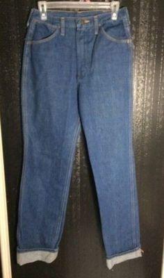 228cf892d Details about Size 32 X 33 Wrangler Men's Vintage 70s 80s Denim Blue Jeans  Western Wear