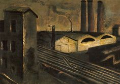 """thusreluctant: """" Urban Landscape with Chimneys by Mario Sironi """""""