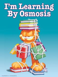 LIES!!!! Osmosis = diffusion of WATER through a semi-perimable membrane. Never trust a cartoon cat.