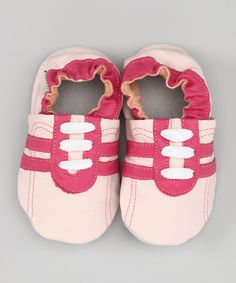 Pink & Red Stripe Leather Booties #zulily #fall