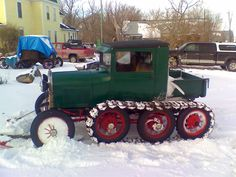 Model A Ford snowmobile
